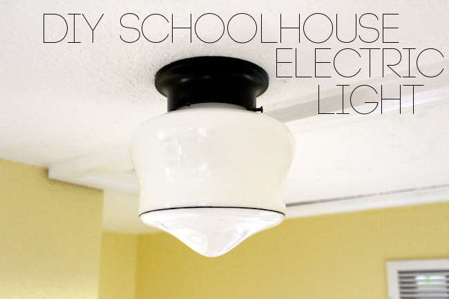 DIY schoolhouse electric light