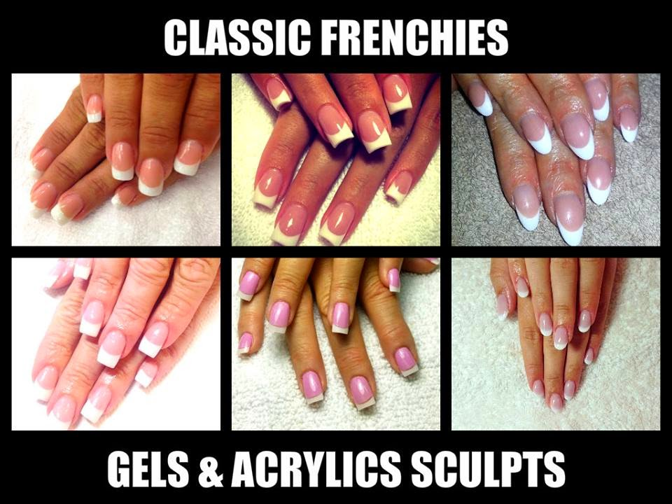 The-classic-sculpted-acrylics-sculpted-gels-and-tips-all-in-The-Classic-Pink-and-White-French-polish-application
