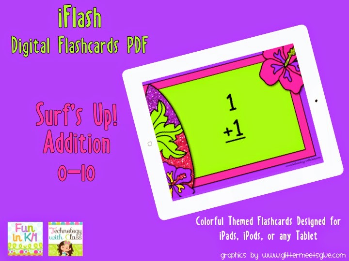 http://www.teacherspayteachers.com/Product/iFlash-Surfs-Up-Addition-Digital-Flashcards-PDF-1204004