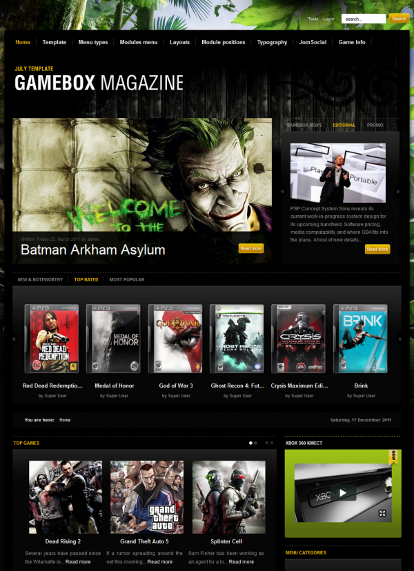 GK Gamebox Magazine - Gavick Pro Joomla Templates