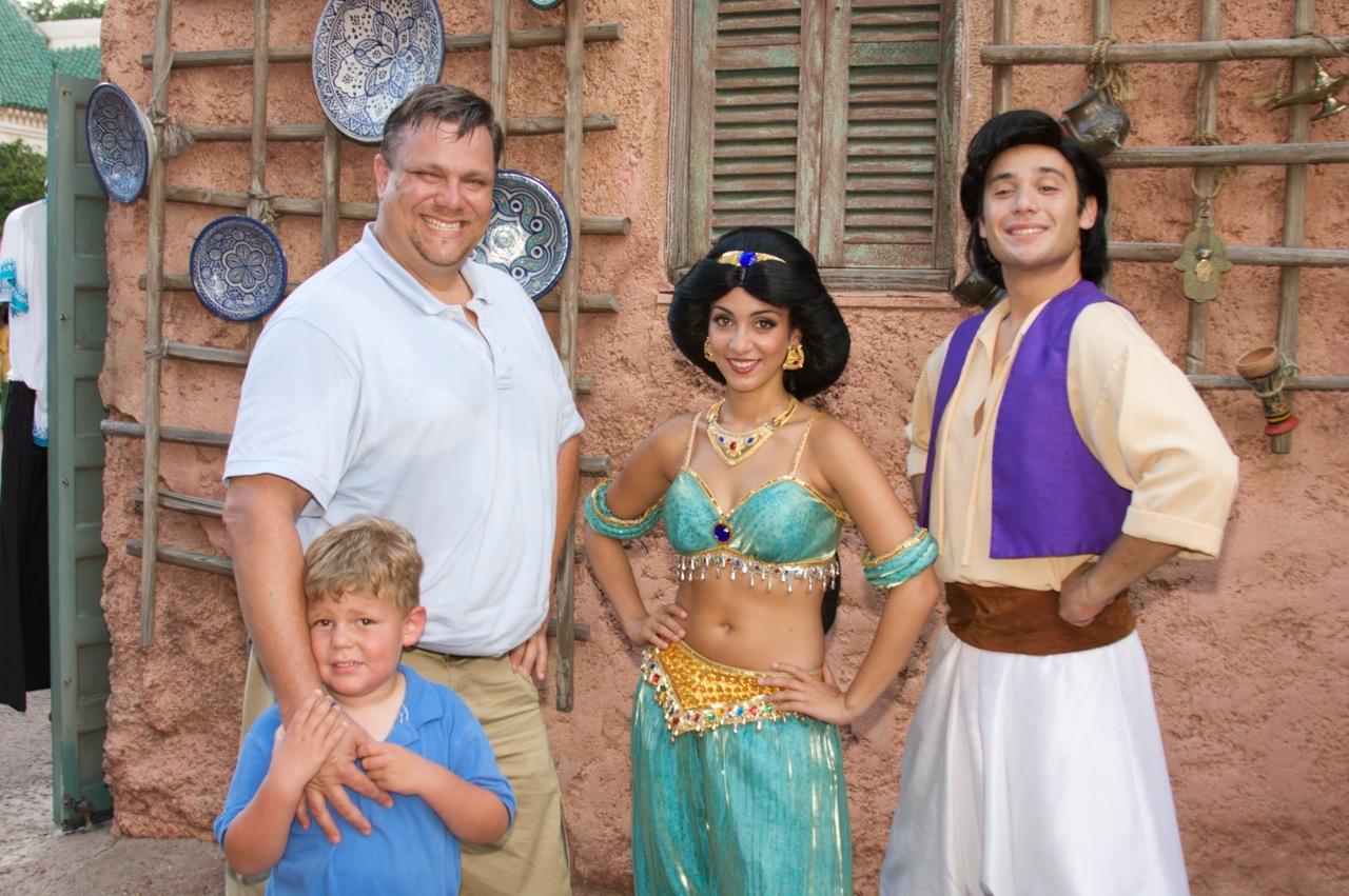 Walt Disney World: Characters of the Moroco Pavilion, Epcot Theme Park ...