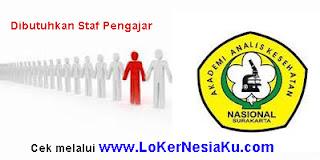 Lowongan Kerja Guru 2013 Masa Januari Di Akademi Analis Kesehatan Nasional Surakarta
