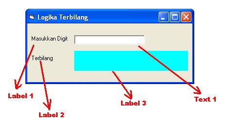 Membuat Logika Terbilang Dengan Visual Basic 6.0