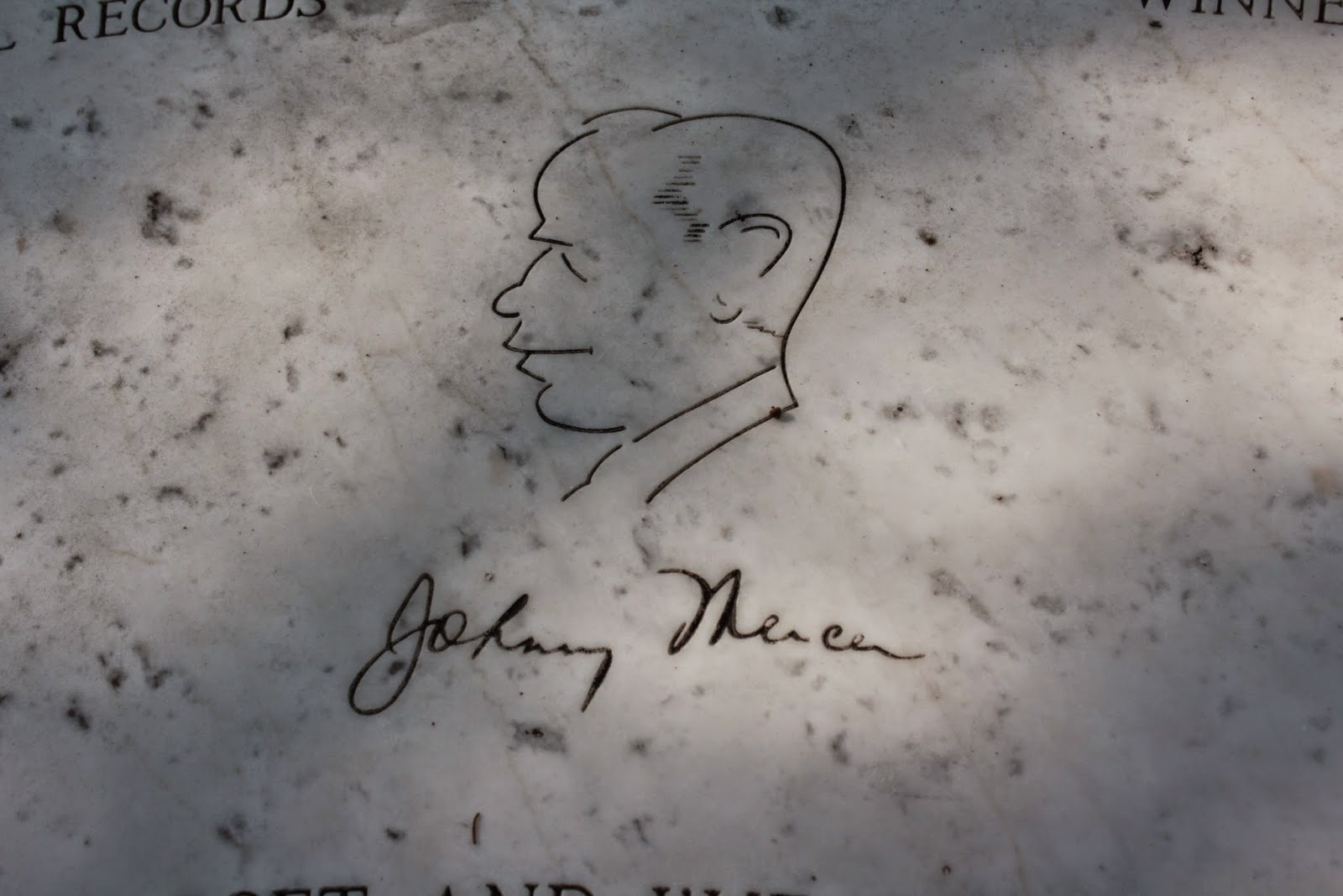 statues and graves Johnny Mercer