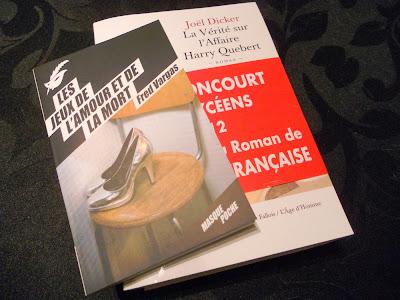 La Verité sur l'Affair Harry Quebert, Joël Dicker, Les Jeux de l'Amour et de la Mort, de Fred Vargas