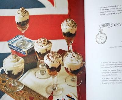 Cherry and Dark Chocolate trifle shots