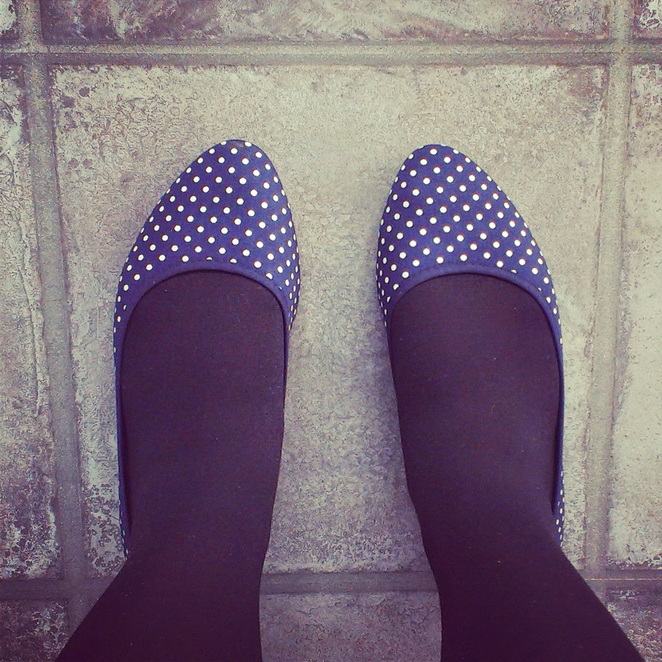 Polka dot ballet shoes