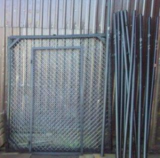 Ворота и калитка  из сетки-рабицы. Фото 8