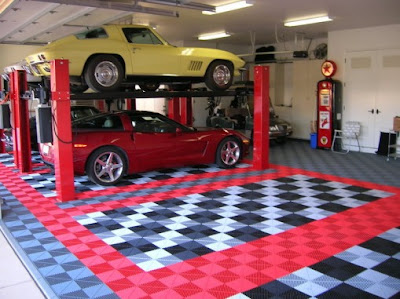 garage floor tiles design ideas