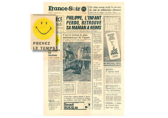 Smiley face news paper