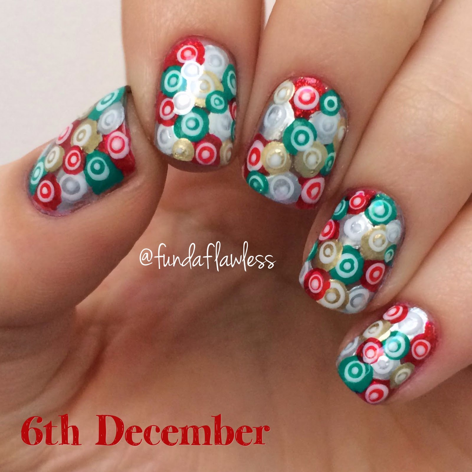 Christmas Murano Glass Nail Art
