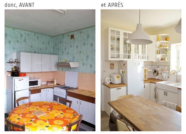 Cuisine Ikea Faktum/ Stat blanc cassé bois moderne classique lumineuse reportage