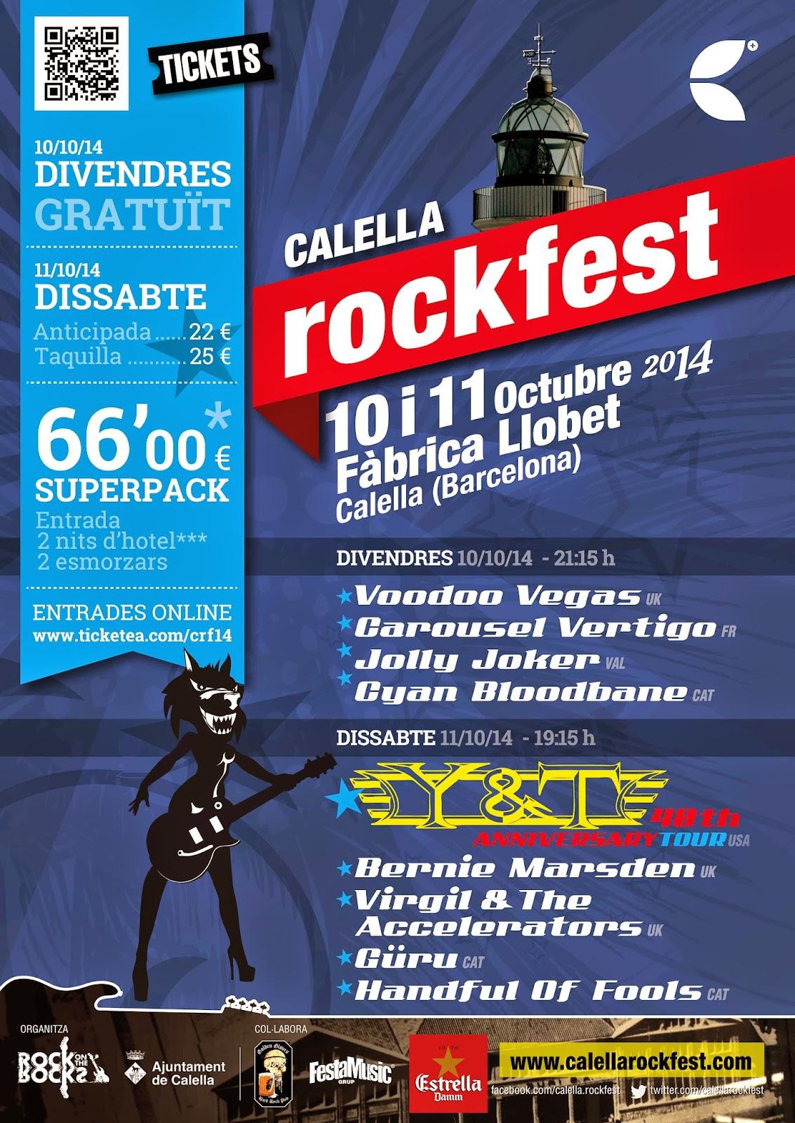 CALELLA ROCKFEST 10 Y 11 DE OCTUBRE
