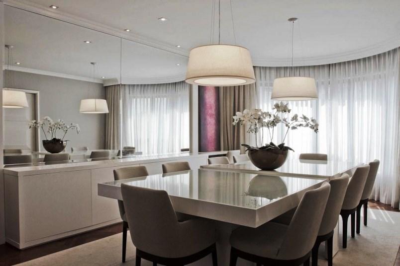Sala De Jantar Com Espelho ~ 12 salas de jantar decoradas com espelhos + dicas  Decor Alternativa