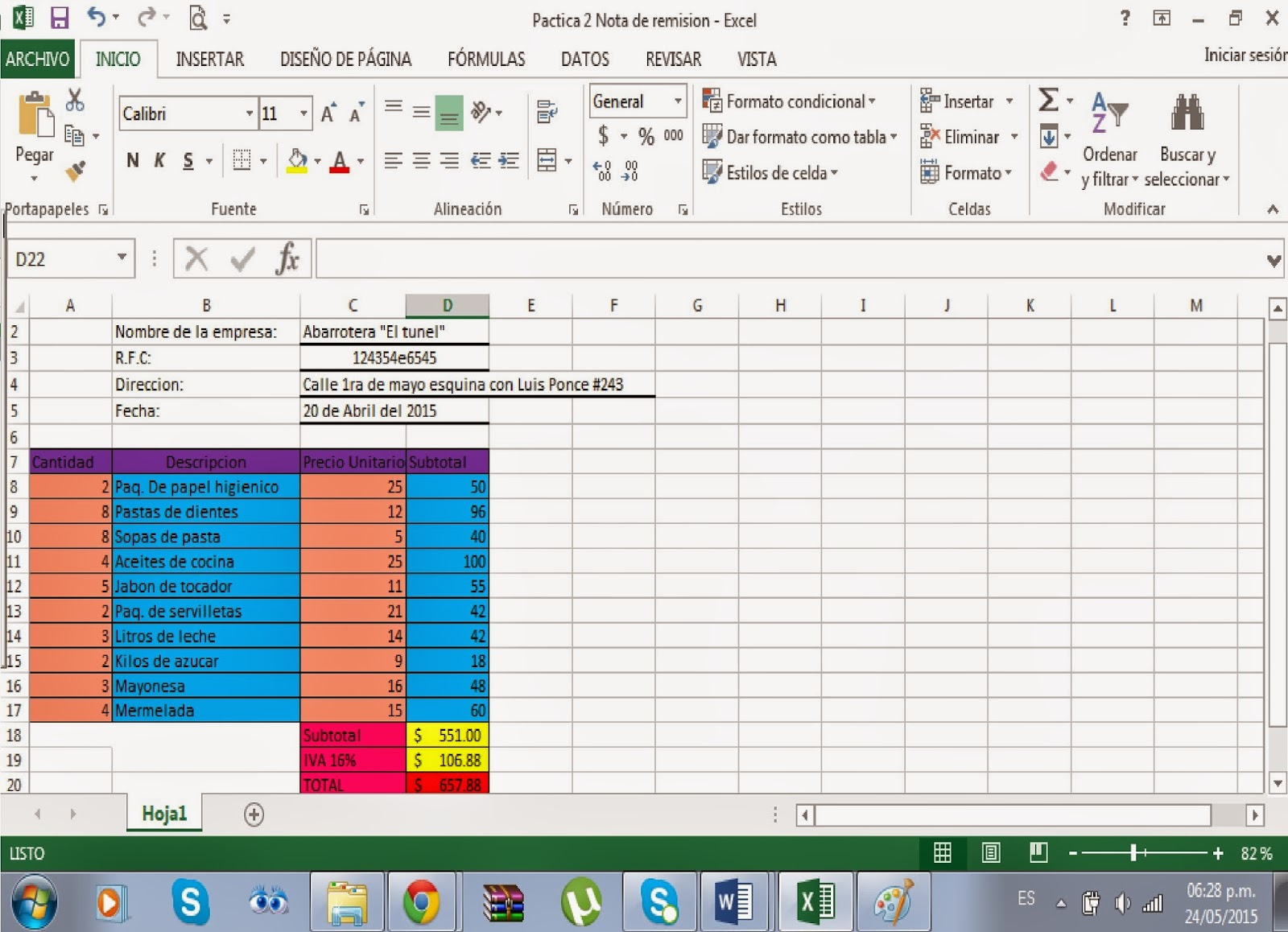 formato remision en excel - Ideal.vistalist.co