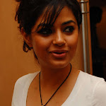 Meera Chopra Sexy Bra Show Through a Transparent White Top