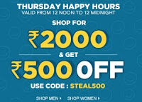 Shop For Rs. 2000 & Get Rs. 500 Off at Jabong