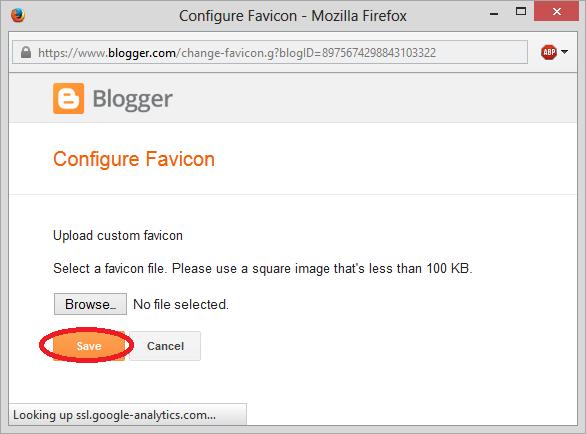 Simpan Logo Favicon Blogger