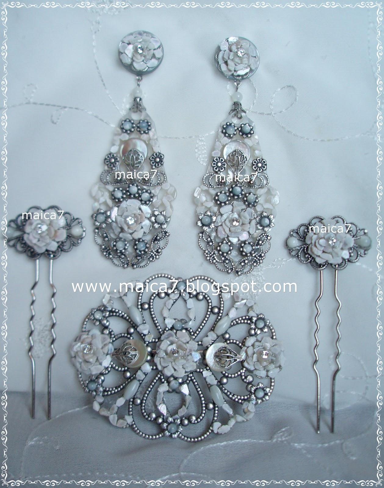 CONJUNTO DUBAI | Complementos para novias: pendientes y tocados ...