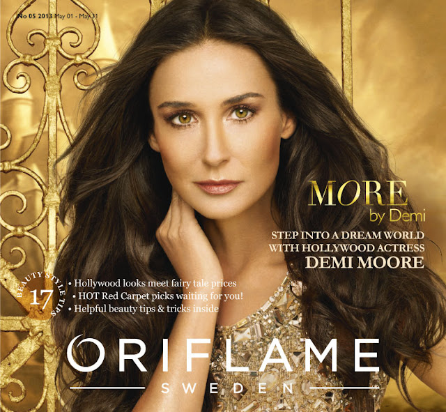 Demi Moore Oriflame new fragrance