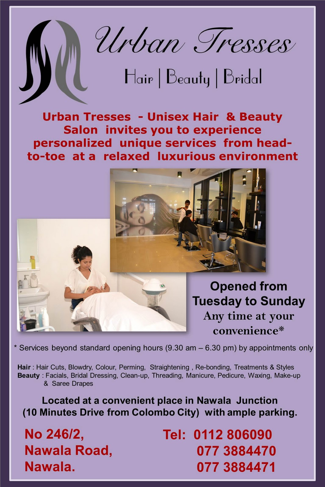 Advertisements / Press Release. Posted by Urban Tresses