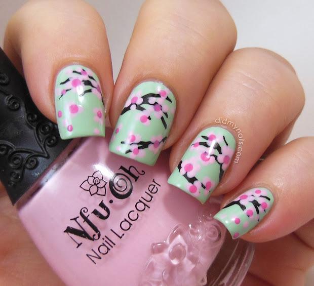 nails cherry blossom