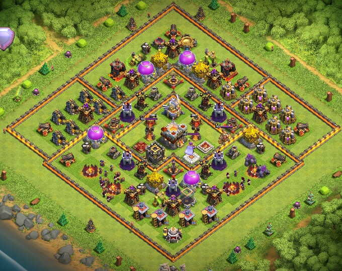 Th10 Th11 Base Layouts Clash Of Clans Coc 360