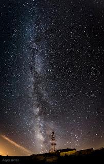 Vía Láctea sobre la Pandera de Valdepeñas de Jaén