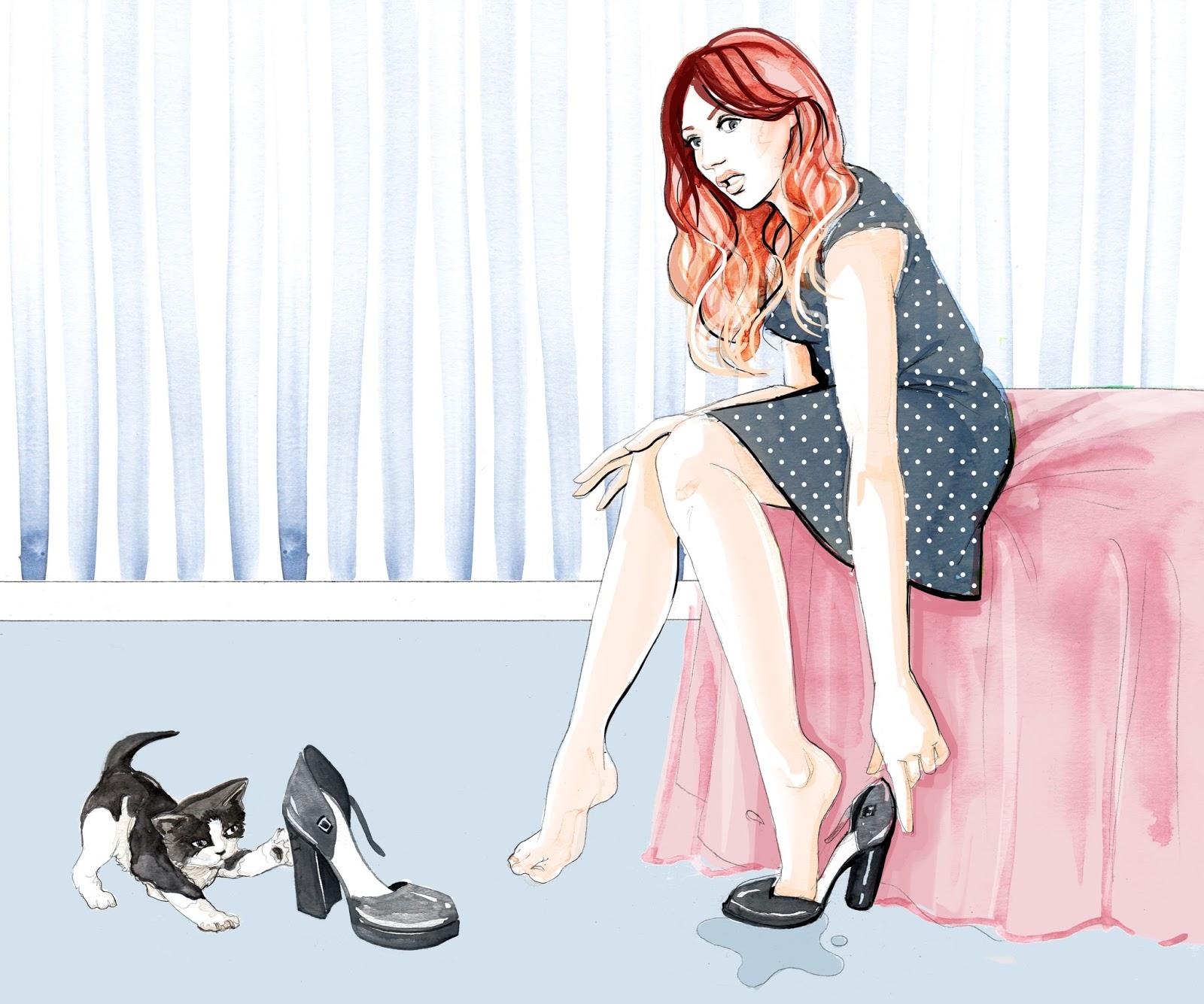 uk fashion blog illustration