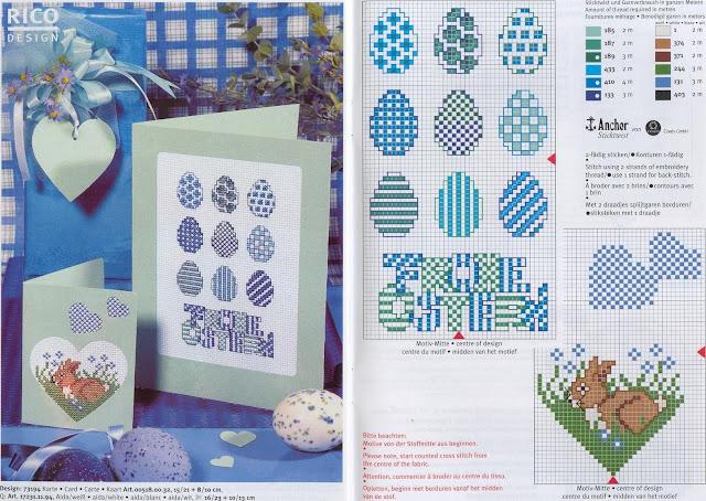 Rico Design - graficos ponto-cruz para Pascoa
