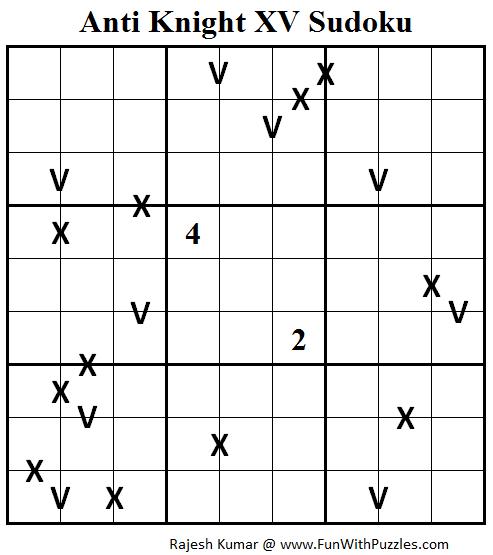 Anti Knight XV Sudoku (Daily Sudoku League #106)