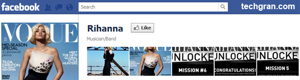Rihanna on Facebook,Musician/Band