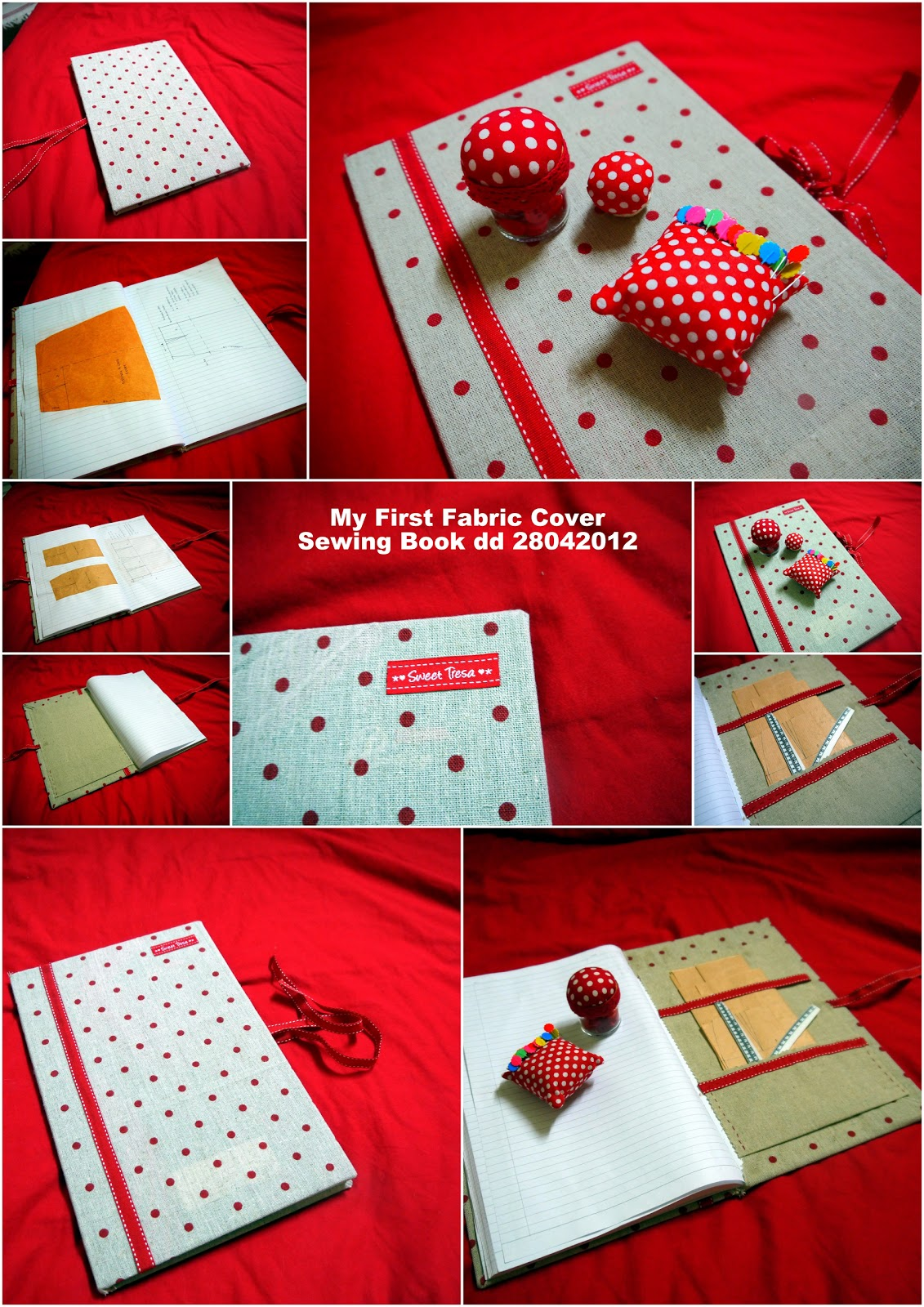 Book Cover Sewing Jobs : Sweet tresa ¸¸ ¨ my first fabric cover sewing book
