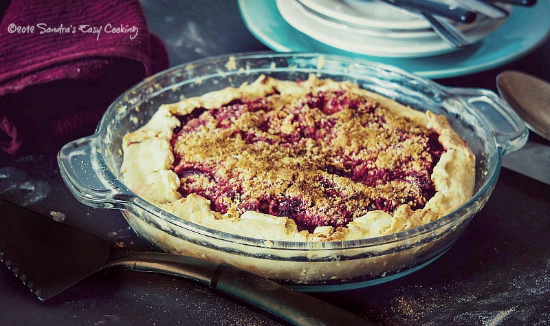 Homemade Rustic Pie with Beets, Apples and Plums