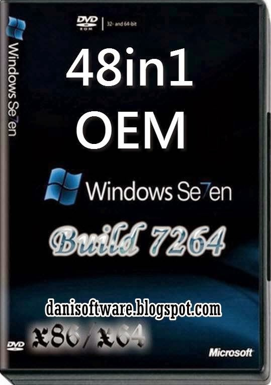 Windows 7 AOI 48in1 OEM and MSDN March 2014 download