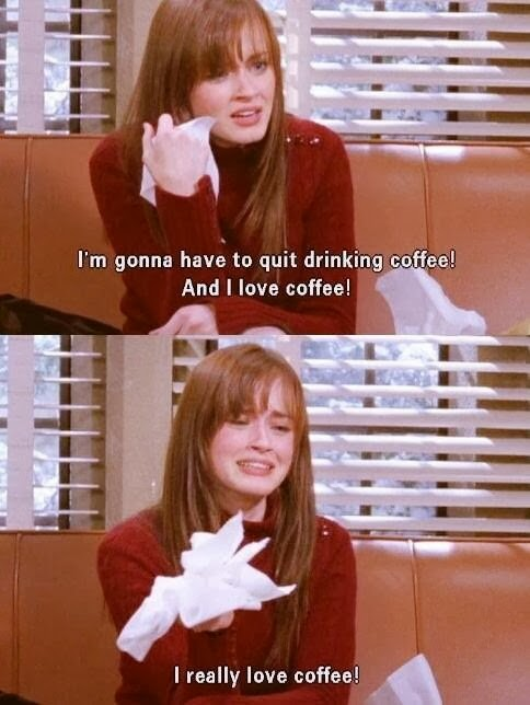 rory gilmore, coffee, sad