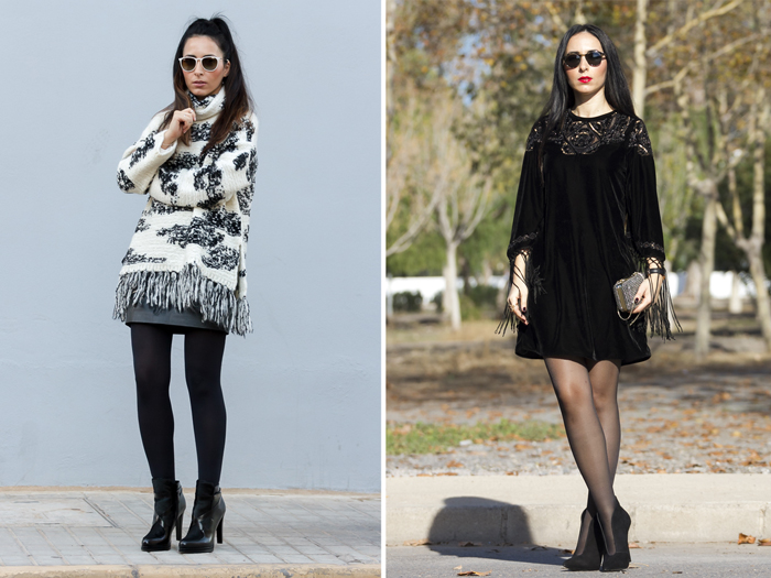 Resumen de los looks de Enero de la blogger de valencia withorwithoutshoes