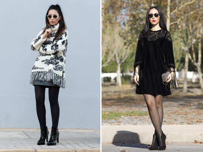 Resumen de los looks de Enero de la blogger de valencia withorwithoutshoes