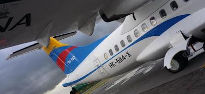 El nuevo ATR 42-600 de SATENA de matrícula FAC1192