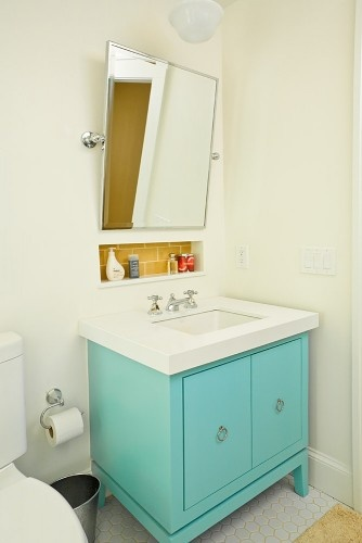 tiffany blue vanity blue sink vanity bathroom