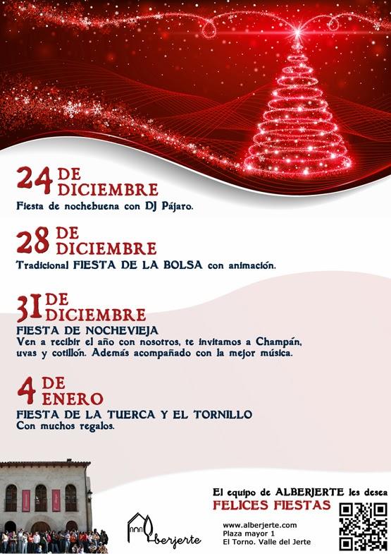 Fiestas de Navidad en Alberjerte