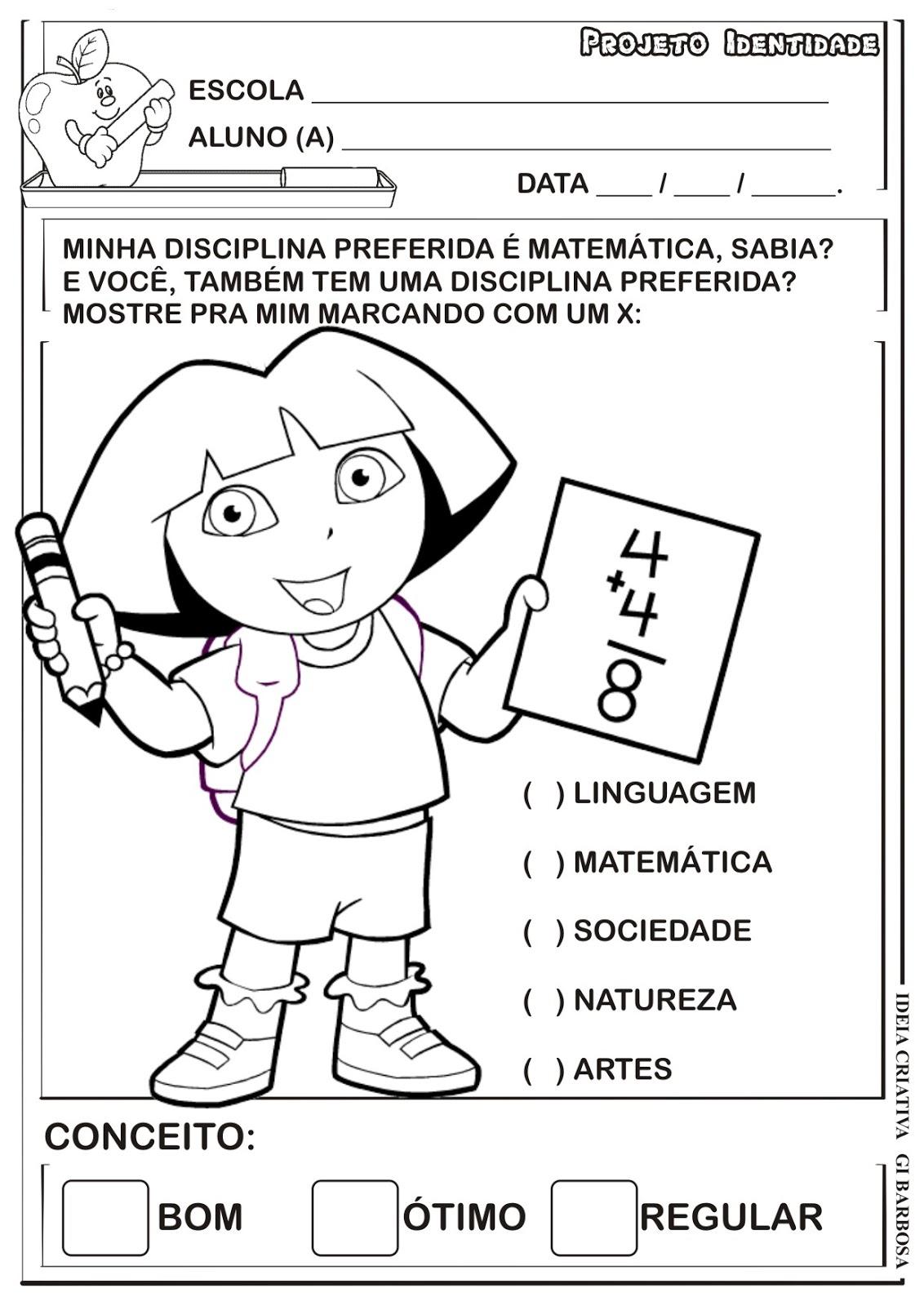 Super Atividade Projeto Identidade Educação Infantil | Ideia Criativa  MH44