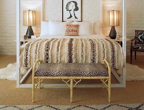 eclectic yatak odası dekorasyonu