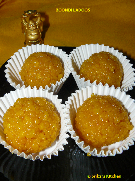 BOONDI LADOO/BUNDI LADOO - DIWALI SWEET RECIPES