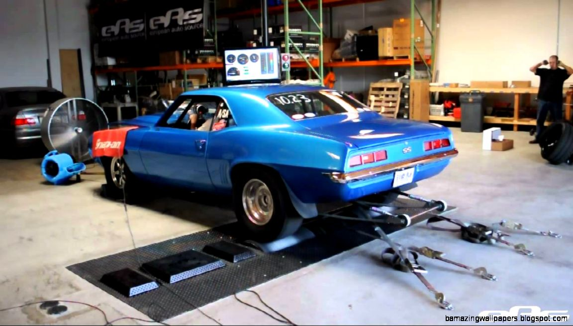 eas  1969 Camaro SS Drag Car Dyno   YouTube