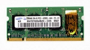 ram laptop samsung 256mb ddr2 bus 667mhz