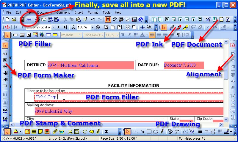 pdf writer editor