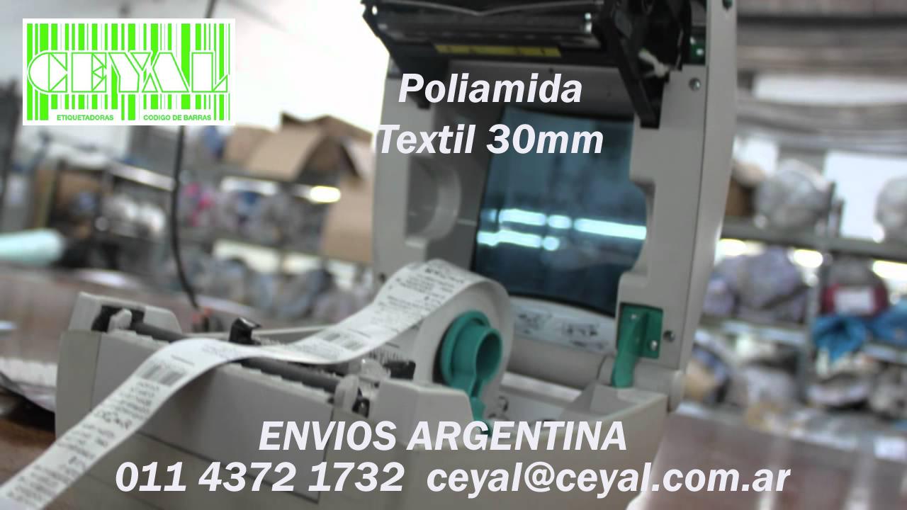 Ribbon-Etiquetas - Poliamida, Impresoras de Etiquetas Códigos Lince