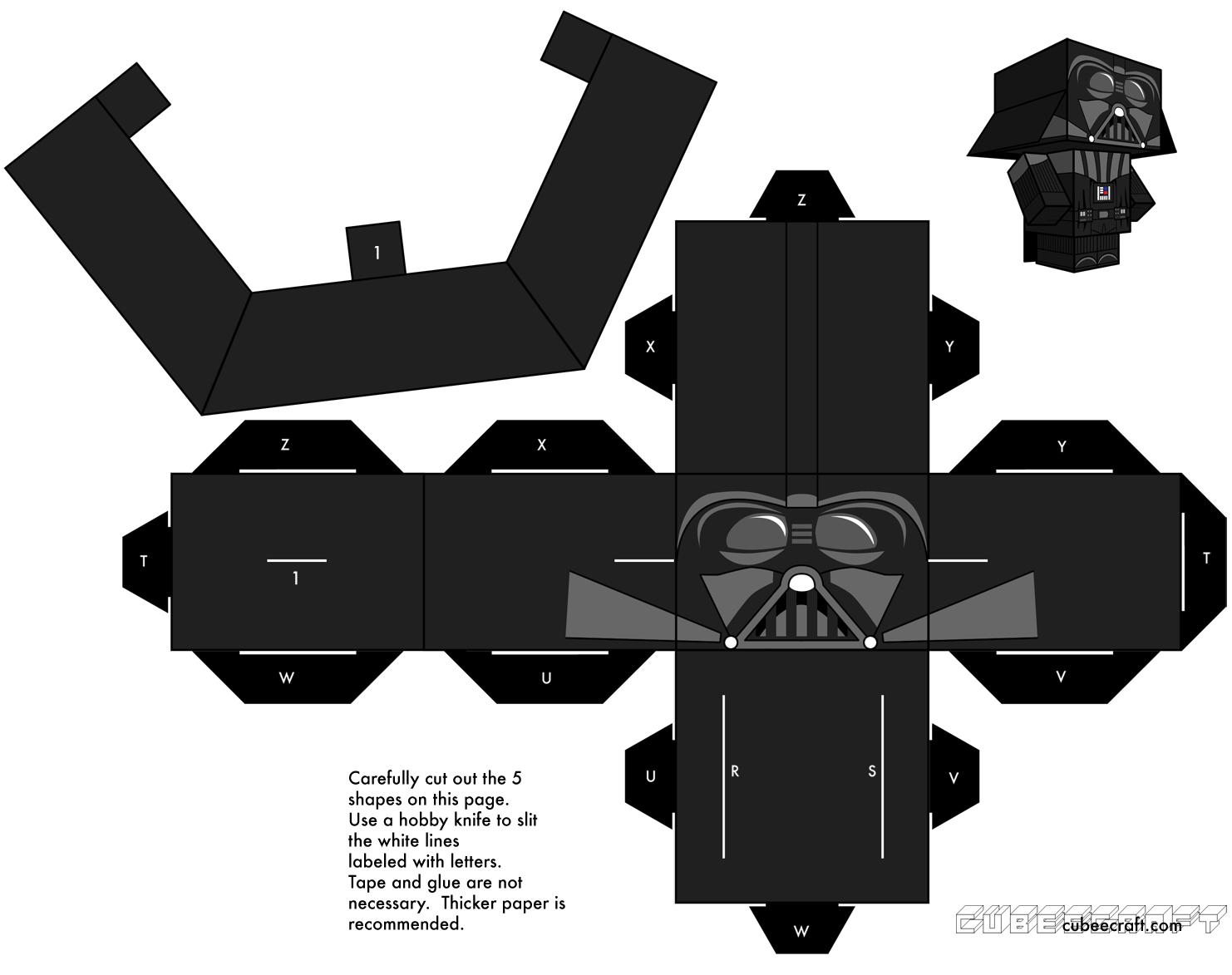 Star Wars Darth Vader Papercraft