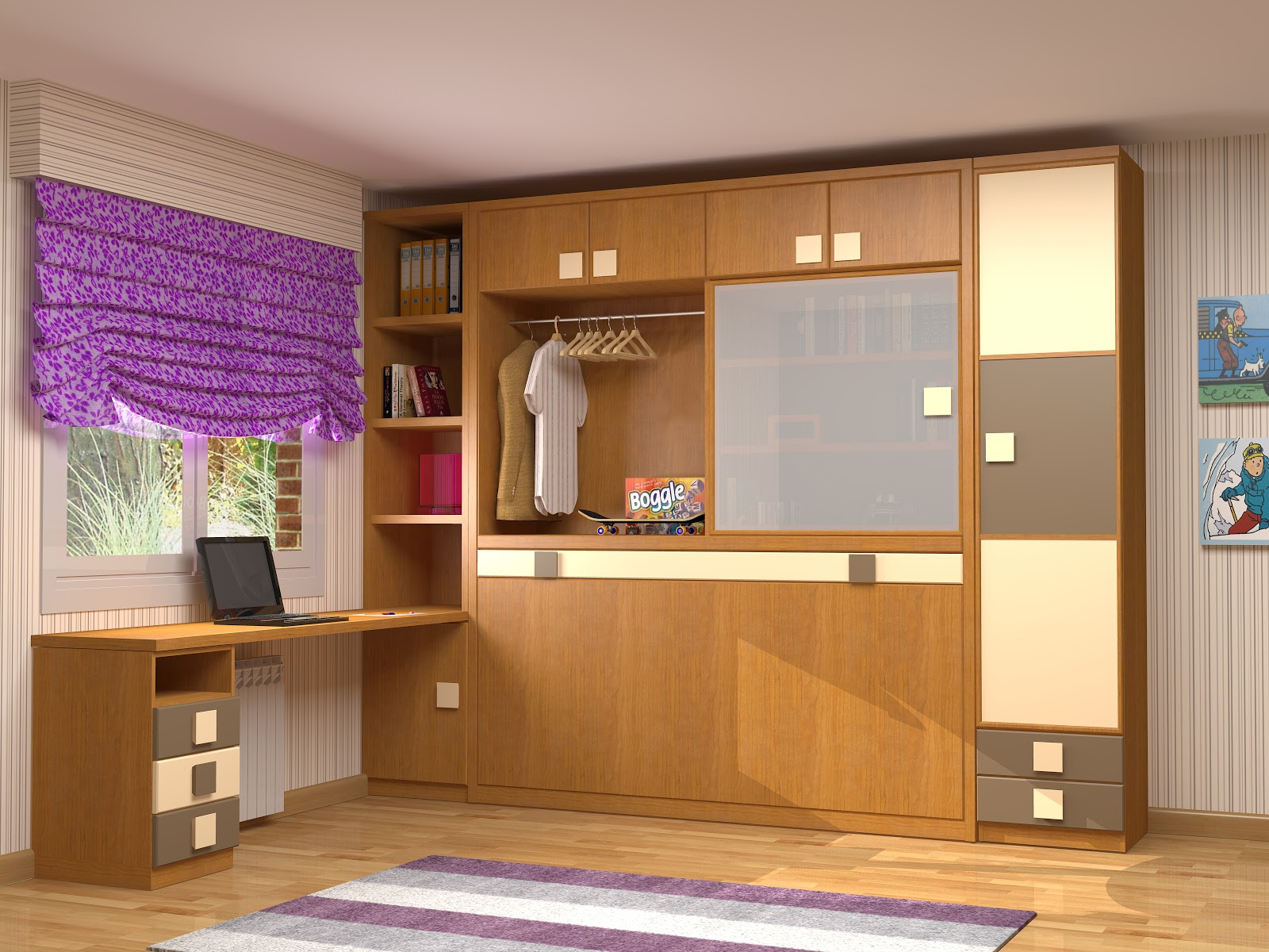 Muebles juveniles dormitorios infantiles y habitaciones - Correderas para muebles ...